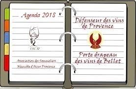Agenda 2018 de l'Association des Sommeliers de Nice Côte d'Azur Provence
