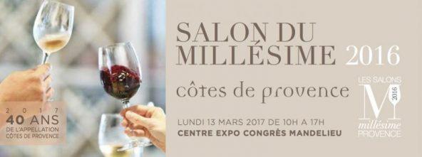 Salon du Millésime Côtes de Provence, Lundi 13 mars à Mandelieu