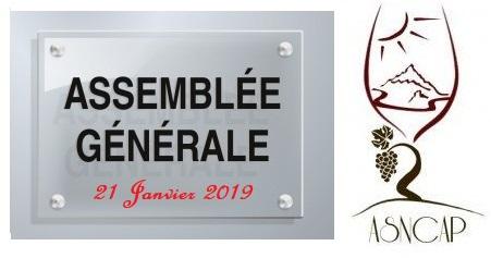 La convocation pour l'Assemblée Générale de l'ASNCAP du 21 Janvier 2019