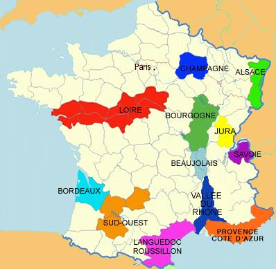 Guide des régions et des appellations