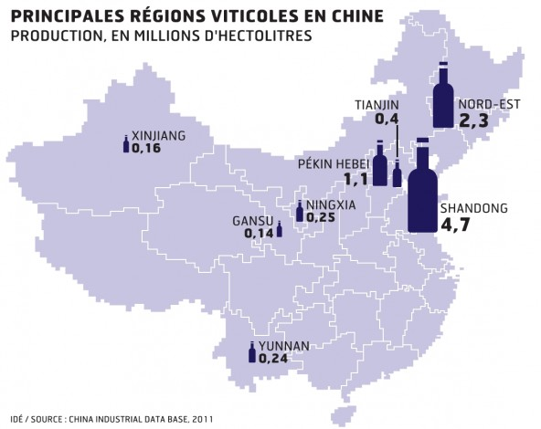 La Chine deuxième vignoble du monde !