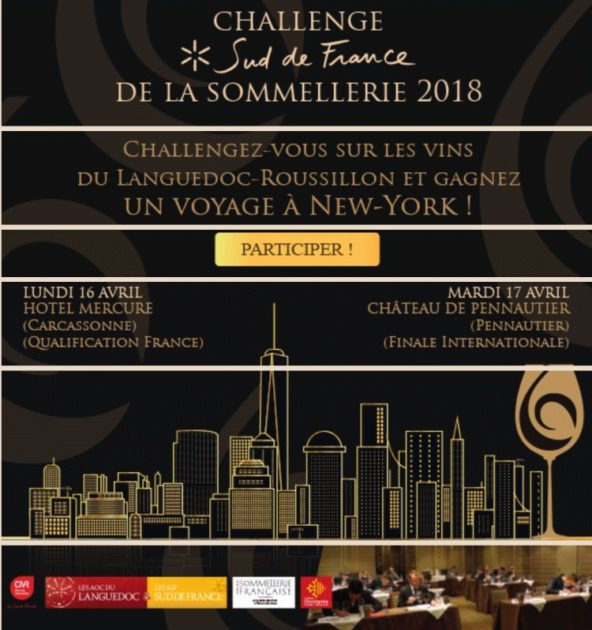 INSCRIPTION AU CHALLENGE DE LA SOMMELLERIE 2018